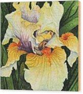 Iris Elegance Wood Print