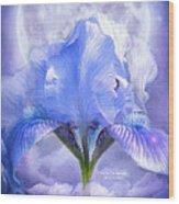 Iris - Goddess In The Moonlite Wood Print