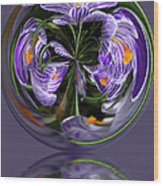 Iris in the Bubble Wood Print