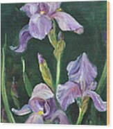 Iris Wood Print by Jolyn Kuhn
