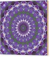 Iris Kaleidoscope  Wood Print