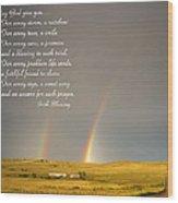 Irish Blessing Double Rainbow 07 11 14 Wood Print