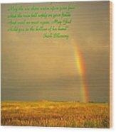 Irish Blessing Rain On The Prairie Wood Print