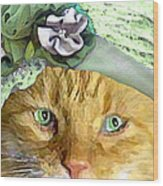 Irish Cat Wood Print