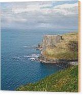 Irish Cliffs Wood Print
