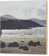 Irish Coast Pastel Chalk Wood Print