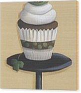 Irish Coffee Cupcake Wood Print