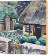 Irish Cottage Wood Print