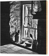 Irish Cottage Window Wood Print