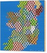 Irish County Gaa Flags Wood Print
