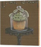 Irish Cream Cupcake Wood Print
