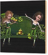 Irish dancers ii Wood Print