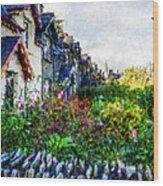 Irish Garden Water Color Wood Print