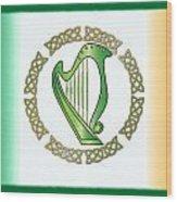 Irish Harp Wood Print