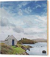 Irish Landscape In Connemara Wood Print