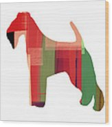 Irish Terrier Wood Print by Naxart Studio