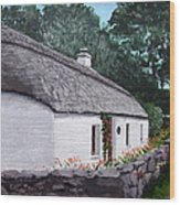 Irish Thatched Cottage Wood Print