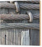 Iron And Wood Wood Print
