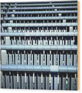 Iron Benches Wood Print