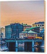 Iron Bridge Panorama Wood Print