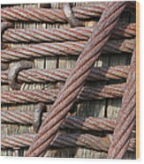 Iron Cables Wood Print