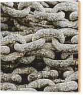 Iron Chains. Wood Print by Slavica Koceva