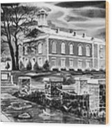 Iron County Courthouse IIi - Bw Wood Print