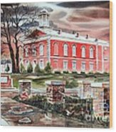 Iron County Courthouse No W102 Wood Print