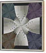 Iron Cross Ironic Cross Wood Print