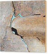 Iron Curtain Cracking Wood Print