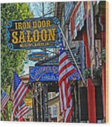 Iron Door Saloon - The Oldest Saloon In California Wood Print