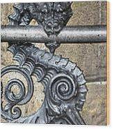 Iron Dragon Wood Print