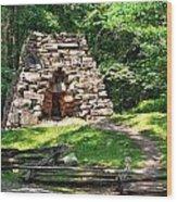 Iron Furance Wood Print