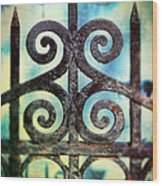 Iron Gate Detail Wood Print