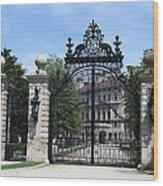 Iron Gate - The Breakers - Rhode Island Wood Print