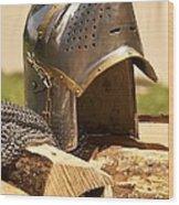 Iron Helmet Wood Print