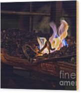 Iron In Fire Oiltreatment Wood Print
