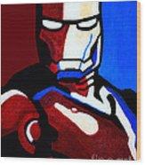 Iron Man 2 Wood Print by Barbara McMahon