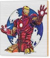 Iron Man Wood Print by Dave Olsen