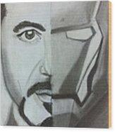 Iron Man  Wood Print