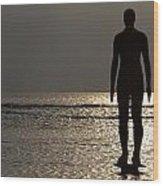Iron Man Waiting For Sunset 1 Wood Print