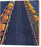 Iron Ore Train, Karratha. Western Wood Print