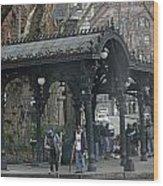 Iron Pergola Pioneer Square Wood Print