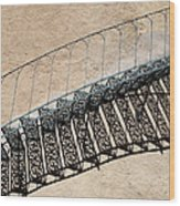Iron Stairs Shadow Wood Print