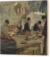 Ironing Workshop In Trouville Wood Print