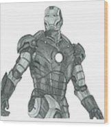 Ironman Wood Print by Rich Colvin