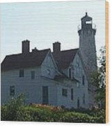 Iroquois Point Lighthouse Wood Print