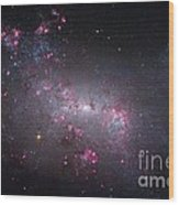 Irregular Galaxy Ngc 4449, Hubble Image Wood Print