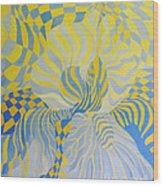 Irreverant Iris Wood Print