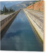 Irrigation Canal Wood Print